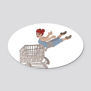 not just for shopping Oval Car Magnet