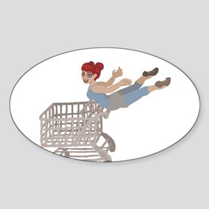not just for shopping Sticker (Oval)