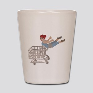 not just for shopping Shot Glass