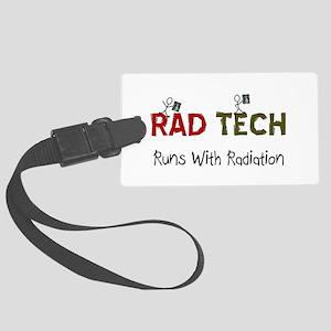 RAD TEch runs with radiation Large Luggage Tag