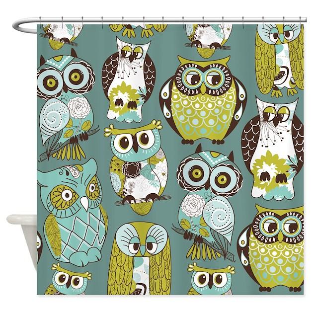 Cute Owls Shower Curtain By BestShowerCurtains