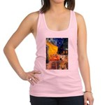 Cafe - Airedale (S) Racerback Tank Top