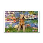 Lilies#2 & Airedale (S) Rectangle Car Magnet