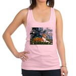 Lilies (1) with a Basenj Racerback Tank Top