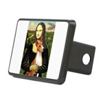 Mona Lisa-Basenji #1 Rectangular Hitch Cover