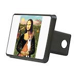 Mona Lisa - Basenji Rectangular Hitch Cover