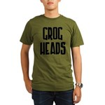 GrogHeads Text Logo Organic Men's T-Shirt (olive)