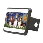 Starry Basset Rectangular Hitch Cover