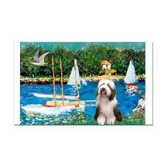 Sailboats / Beardie #1 Rectangle Car Magnet