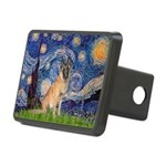 Starry/Belgian Malanois Rectangular Hitch Cover