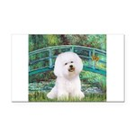 Bridge & Bichon Rectangle Car Magnet