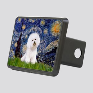 Starry Night Bichon Rectangular Hitch Cover