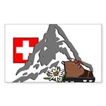 Mountain hike collage Sticker (Rectangle 50 pk)