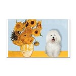 Sunflowers & Bolognese Rectangle Car Magnet