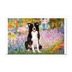 Garden & Border Collie Rectangle Car Magnet