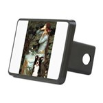 Ophelia & Border Collie Rectangular Hitch Cover