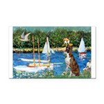 Sailboats & Boxer Rectangle Car Magnet