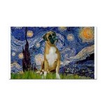 Starry / Boxer Rectangle Car Magnet