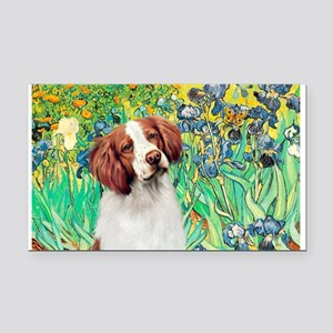Irises/Brittany Rectangle Car Magnet
