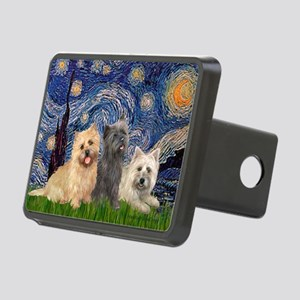 Starry/3 Cairn Terriers Rectangular Hitch Cover