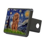 Starry Night Ruby Cavalier Rectangular Hitch Cover