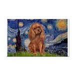 Starry Night Ruby Cavalier Rectangle Car Magnet