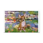 Lilies (2) & Chihuahua Rectangle Car Magnet