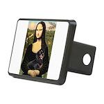 Mona Lisa/Dachshund (BT4) Rectangular Hitch Cover