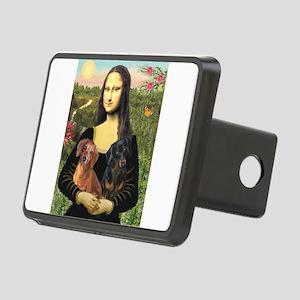 Mona Lisa's Dachshunds Rectangular Hitch Cover