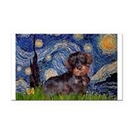Starry Night Dachshund (Wire) Rectangle Car Magnet