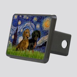 Starry Night Doxie Pair Rectangular Hitch Cover