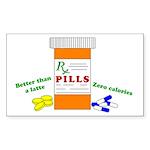 betterthanalattebutton Sticker (Rectangle 50 pk)