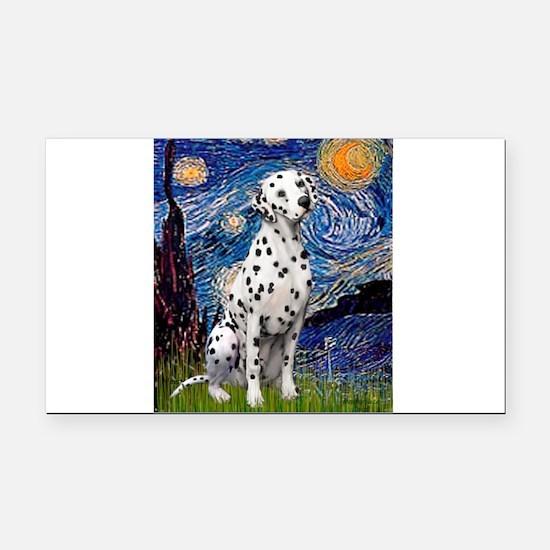 Starry / Dalmatian #1 Rectangle Car Magnet