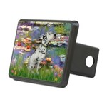 Lilies / Dalmation Rectangular Hitch Cover