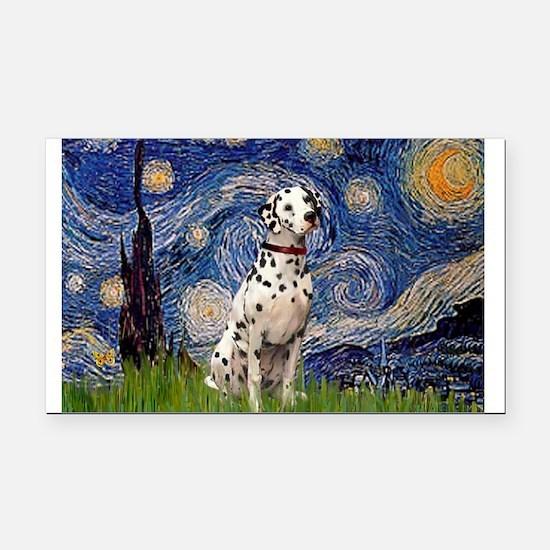 Starry /Dalmatian Rectangle Car Magnet