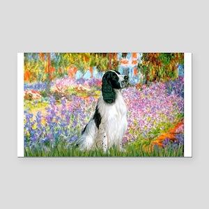 Monet's garden & Springer Rectangle Car Magnet