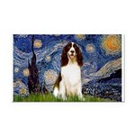 Starry Night / Eng Spring Rectangle Car Magnet