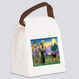 St Francis / Airedale Canvas Lunch Bag
