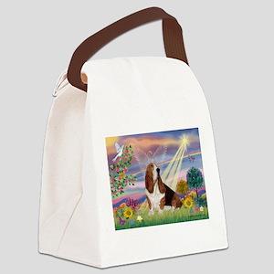 Cloud Angel & Basset Canvas Lunch Bag