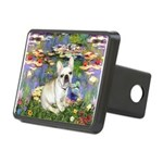 Lilies / Fr Bulldog (f) Rectangular Hitch Cover