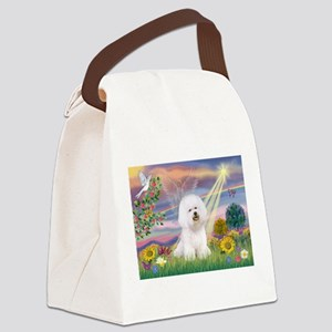 Cloud Angel & Bichon Canvas Lunch Bag