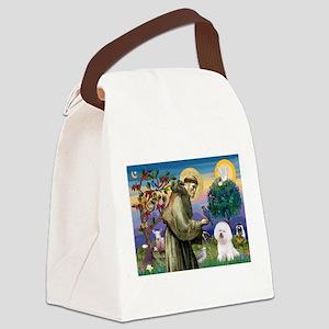 St Francis / Bichon Frise Canvas Lunch Bag