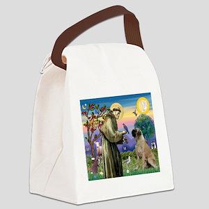 Saint Francis / Bullmastiff Canvas Lunch Bag