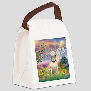 Cloud Angel /Bull Terrier Canvas Lunch Bag
