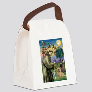St Francis / Cairn Terrier Canvas Lunch Bag