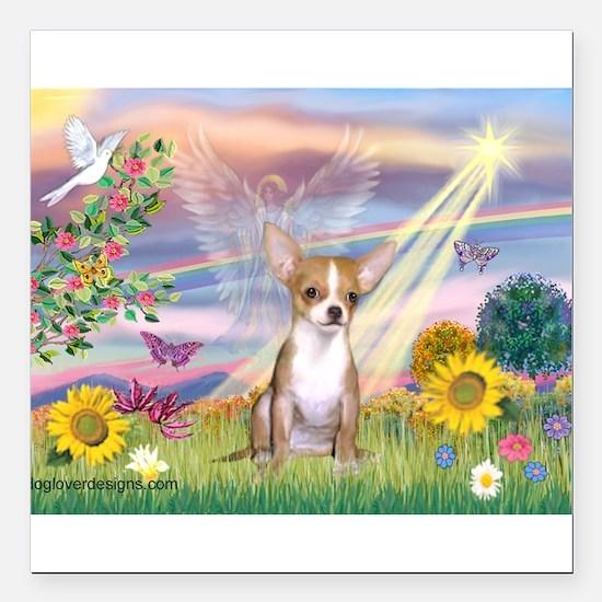 Cloud Angel / Chihuahua (f) Square Car Magnet 3&qu