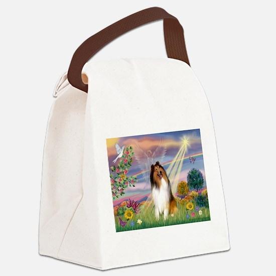 Cloud Angel & Collie Canvas Lunch Bag