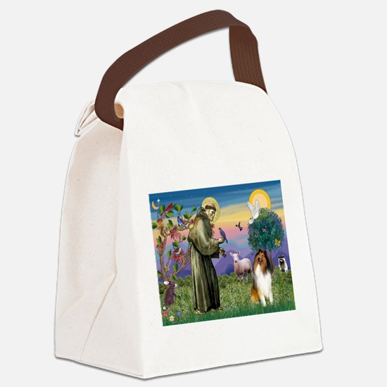 St Francis / Collie Canvas Lunch Bag