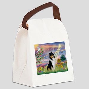Cloud Angel / Collie Canvas Lunch Bag