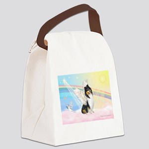 Clouds / Collie (tri) Canvas Lunch Bag